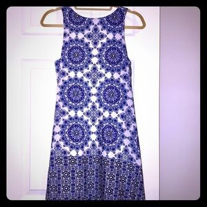 Small *Everly* Blue Mosaic Dress